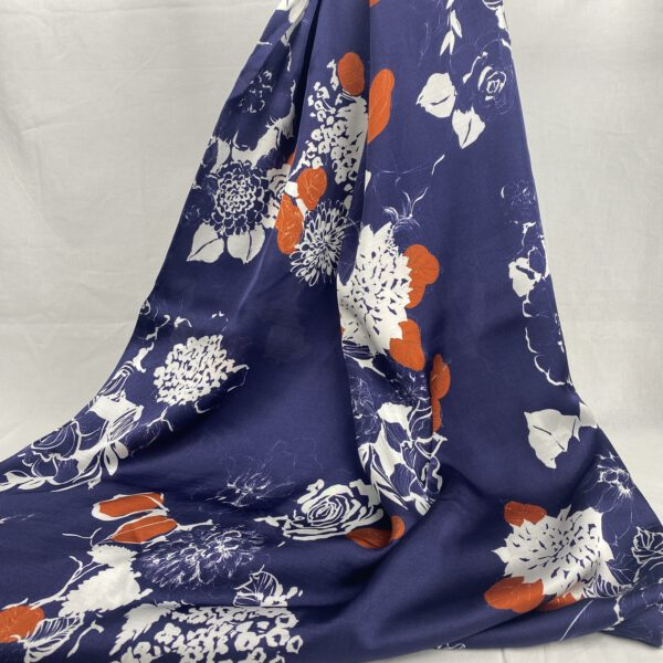 Viscose Blau-Orange