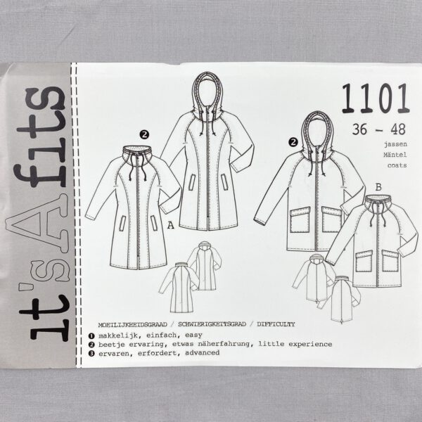 Its a fits Schnittmuster 1101 Jacke-Mantel