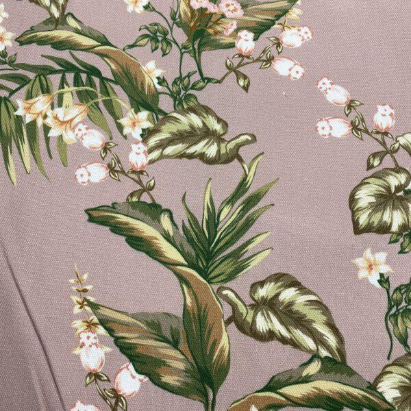 Viscosecrepe Rosenholz Floral