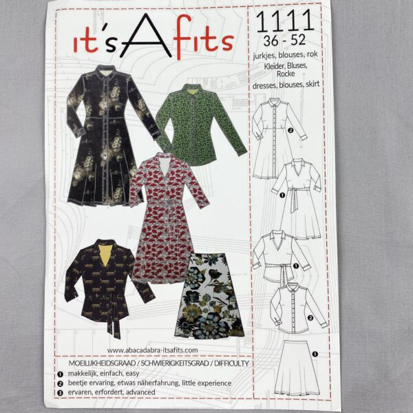 Its a fits Schnittmuster 1111 Kleid-Bluse-Rock