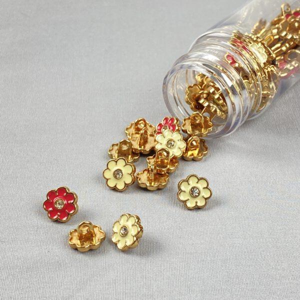 Blümchenknopf Gold