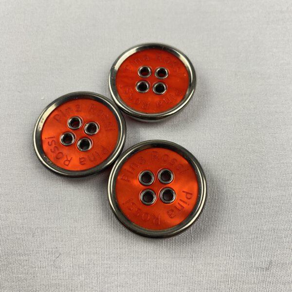 Knopf orange-Metall