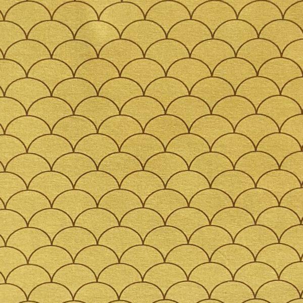 Baumwolljersey Kachelmuster gelb