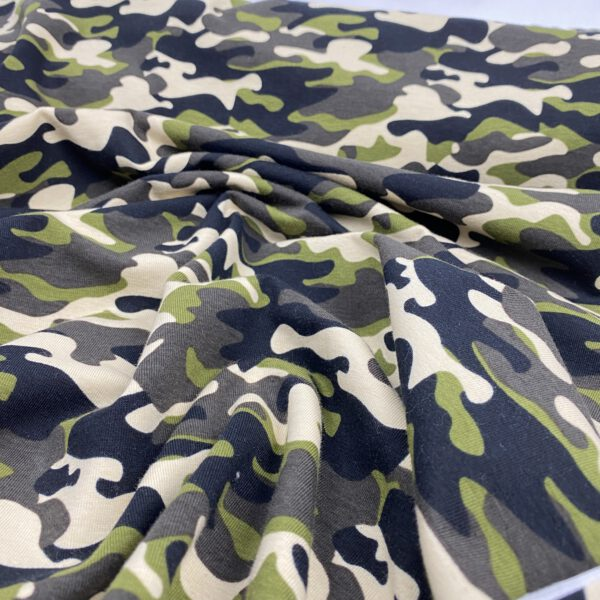 Baumwolljersey Camouflage