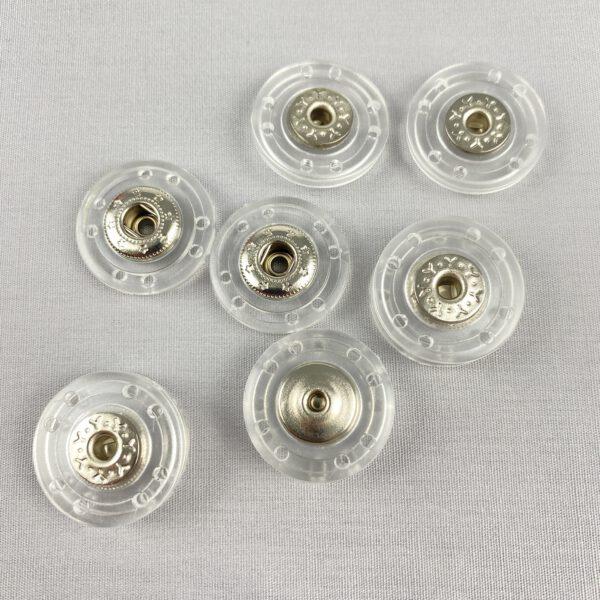 Druckknopf Kunststoff transparent