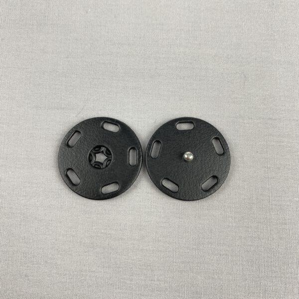 Druckknopf Kunststoff schwarz