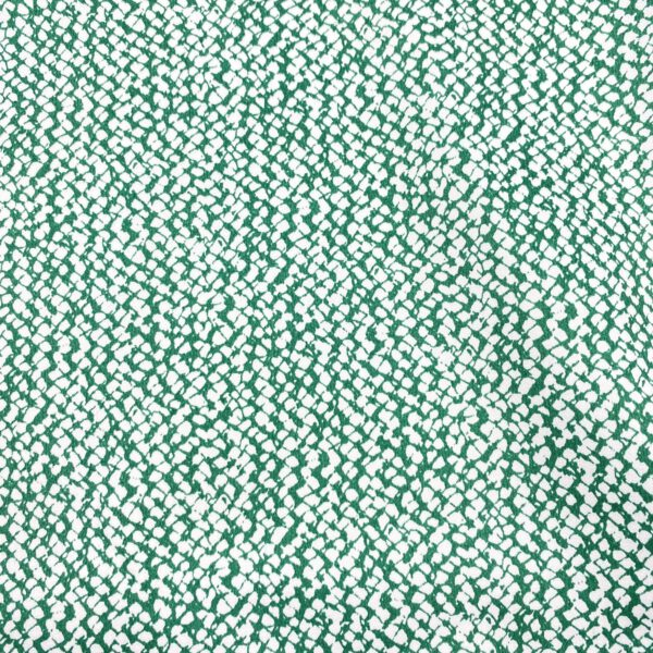 Baumwollstretch grün-weiss