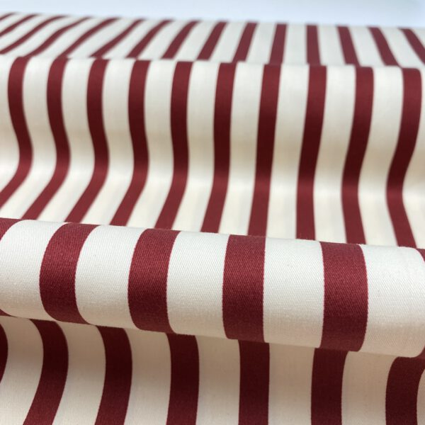 Baumwollstretch Stripes rot-creme Fibre Mood