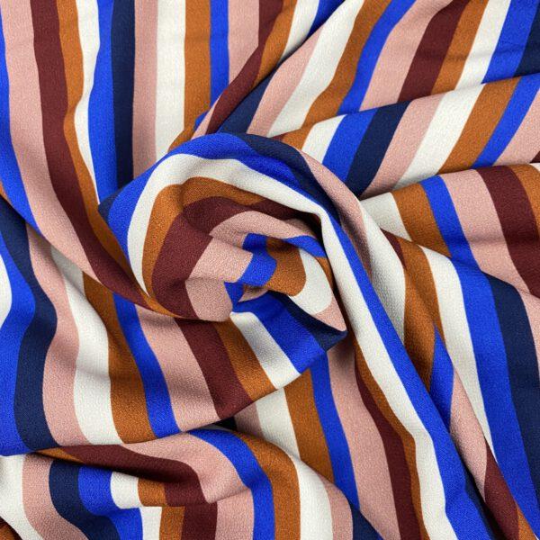 Viscosecrepe Stripes Multicolor